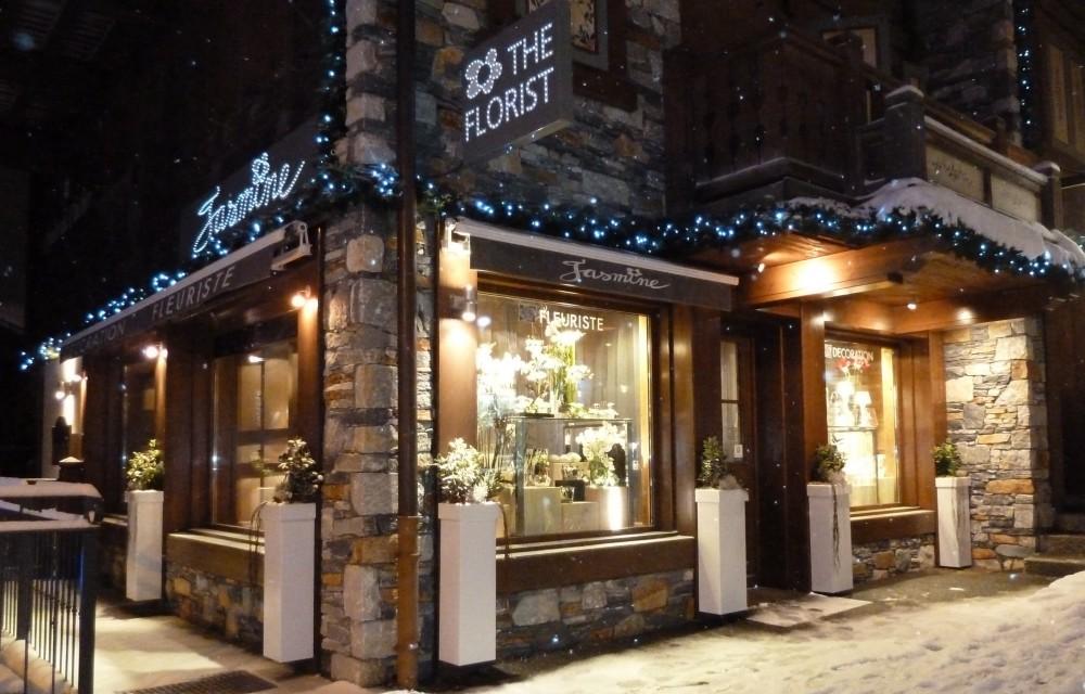 La boutique  Jasmine Fleurs à Courchevel