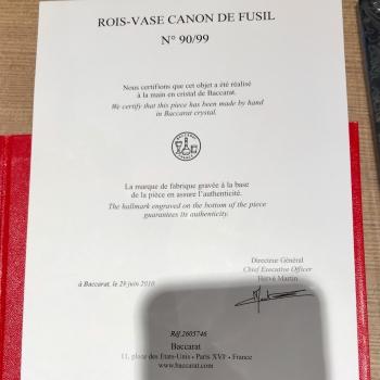 Baccarat Vase  Edition limitée 99 exemplaires