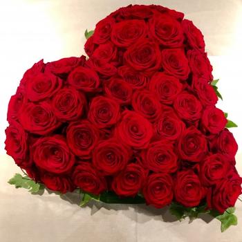 Coeur en roses Saint Valentin